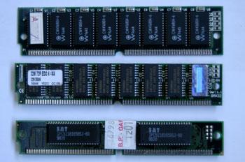Módulo de memoria tipo SIMM 72 contactos