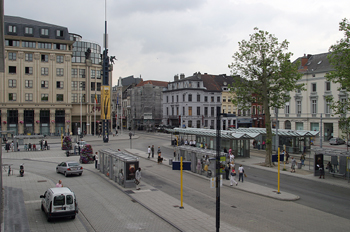 Het Zuid (zona del sur), Wilsonplein, Gante, Bélgica