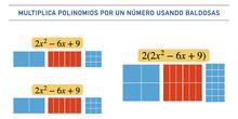 Multiplica polinomios por un número usando piezas de goma eva