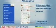 """Ponencia de D. Antonio A. Ruiz Molino:""""Internet en el aula: Red social docente del INTEF para el aprendizaje entre iguales&"""