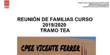 Tramo TEA 2019-2020. Presentación familias