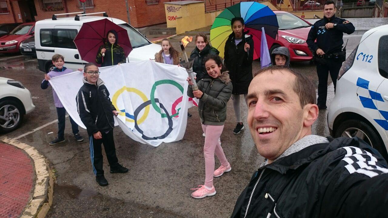 Llevamos antorcha olímpica 2019 2