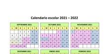 Calendario escolar Collado Villalba