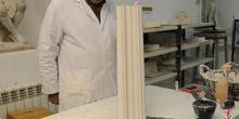 Realización de una moldura lineal recta
