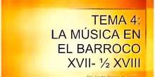 Historia de la Música. Tema 4- La música en el Barroco