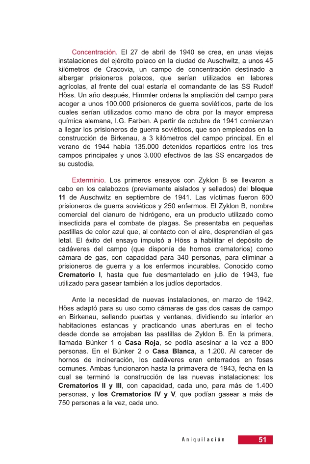 Página 51 de la Guía Didáctica de la Shoá
