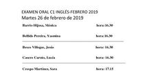 Libre C1 inglés febrero 2019