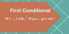 First conditional-used to