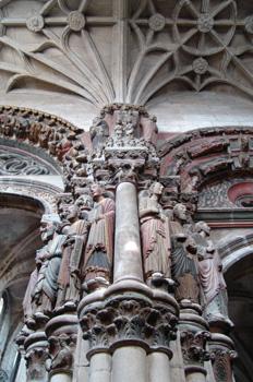 Detalle del Pórtico del Paraíso, Catedral de Orense, Gaícia