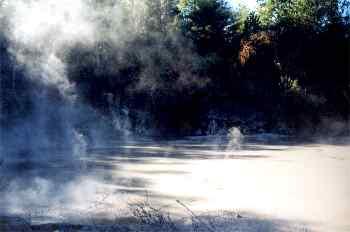 Lago de lodo hirviendo, Nueva Zelanda.