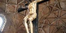 Cristo crucificado en el Mosteiro dos Jeronimos, Portugal