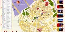 Plano turístico de Badajoz