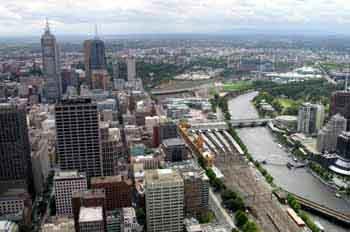Melbourne desde la torre Rialto, Australia
