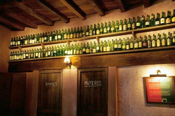Colección de distintas botellas de sidra natural, Museo de la Si