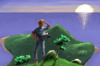 Escuela de Robinsones: Godfrey oteando el horizonte