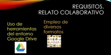 RELATO COLABORATIVO. Requisitos del artefacto digital