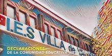 Puertas abiertas IES Villa de Valdemoro. Marzo 2021. Declaraciones de la comunidad educativa (resumen)
