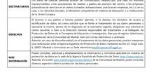 Política de Privacidad en centros docentes públicos de la Comunidad de Madrid.