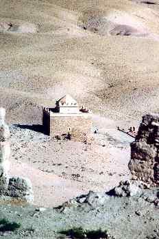 Construcción de piedra en el desierto, Marruecos