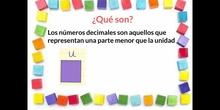 PRIMARIA - 4º - QUÉ SON LOS NÚMEROS DECIMALES - MATEMÁTICAS - FORMACIÓN