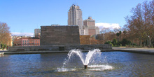 Fuente en Templo de Debod, Madrid