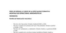 PERFIL DE ENTRADA PARA MONTAJE DE ESTRUCTURAS AERONÁUTICAS