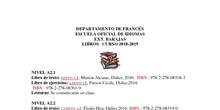libros francés 2018-2019 rectificación