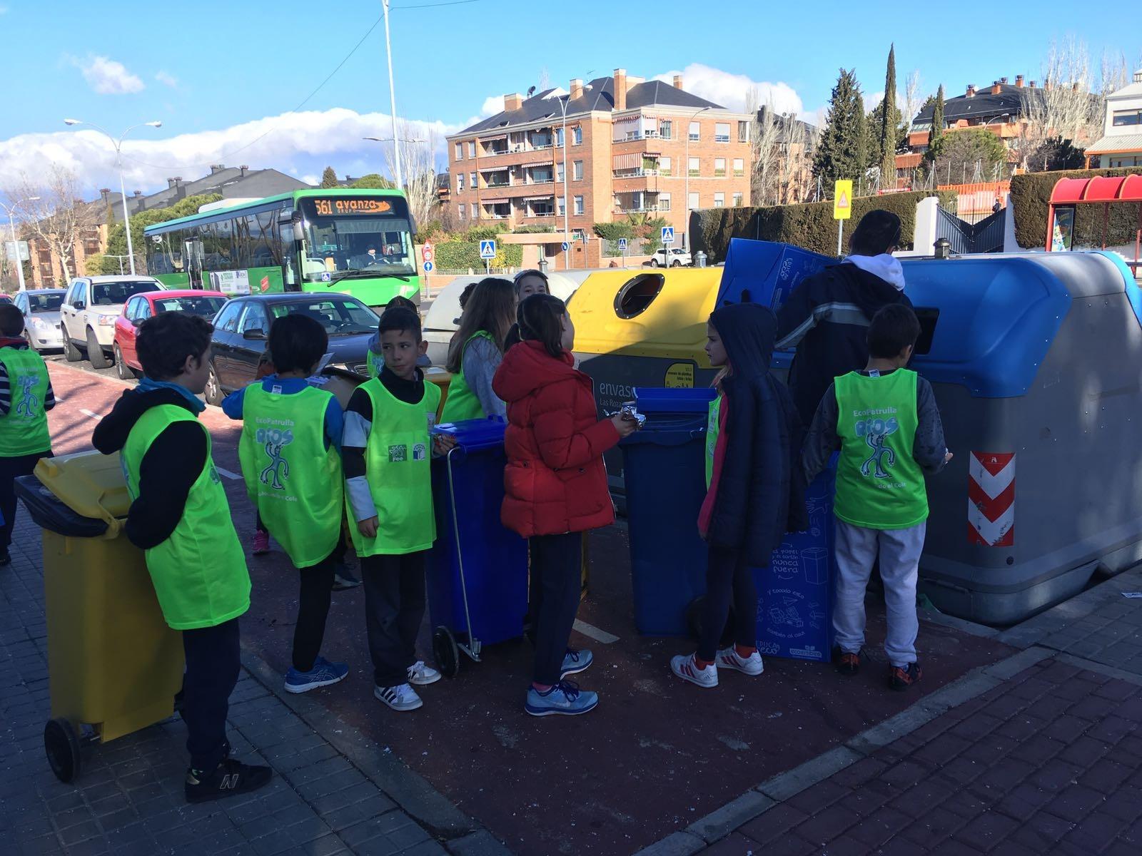 2018_02_EcoPatrullas reciclando_CEIP Fernando de los Ríos_Las Rozas 4