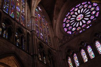 Vidrieras y rosetón de la Catedral de León, Castilla y León