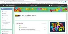 Tutorial aula virtual de 5º Matemáticas del CEIP Alhambra