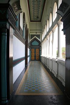 Detalles de interior, Mezquita Al Mashun, Medan, Sumatra, Indone