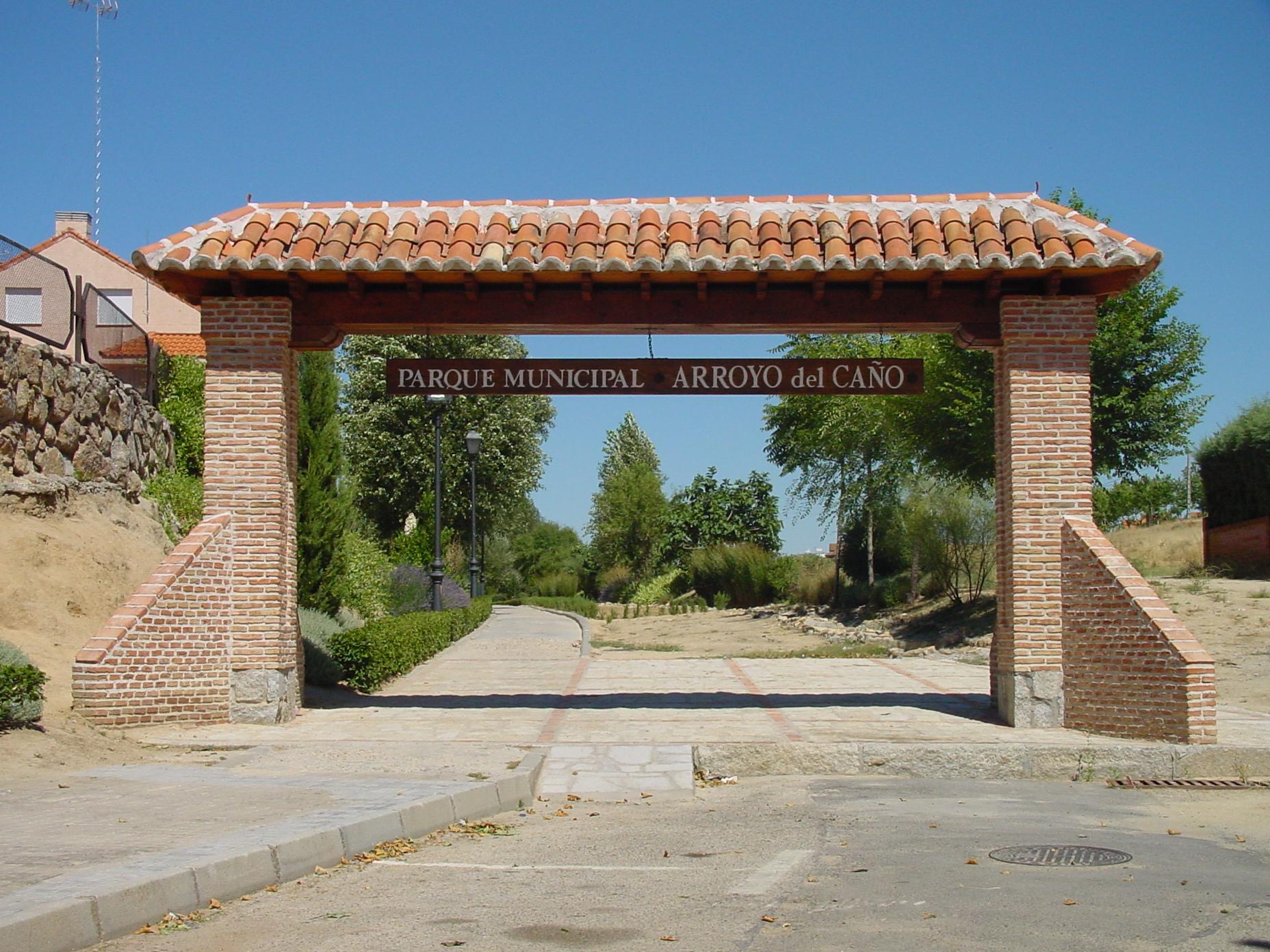 Parque municipal Arroyo del Caño en Moraleja de Enmedio