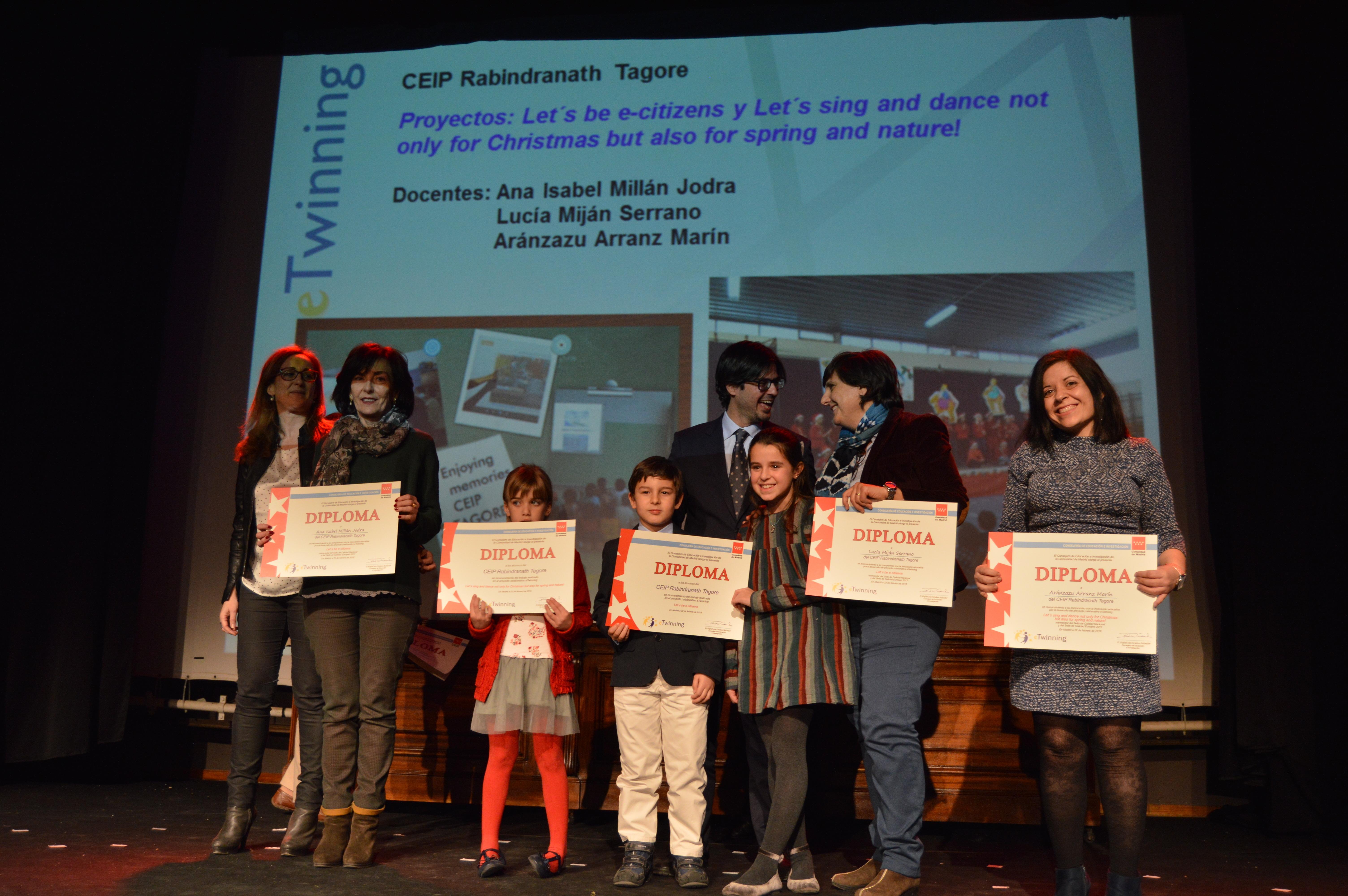 Entrega diplomas II Edición Reconocimiento Sellos de Calidad eTwinning Comunidad de Madrid 4