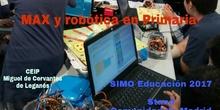 MAX y robótica en Primaria: SIMO Educación 2017 - Stand Comunidad de Madrid. Entrevistas y experiencia del CEIP Miguel de Cervantes de Leganés