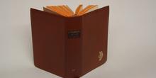 Cubierta en cuero de un libro