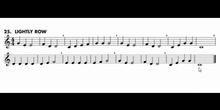 Lightly row - Clarinete