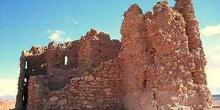 Ventanas y muro de la Kasbah, Ait Benhaddou, Marruecos
