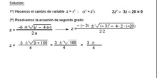 Álgebra: 17.Bicuadradas