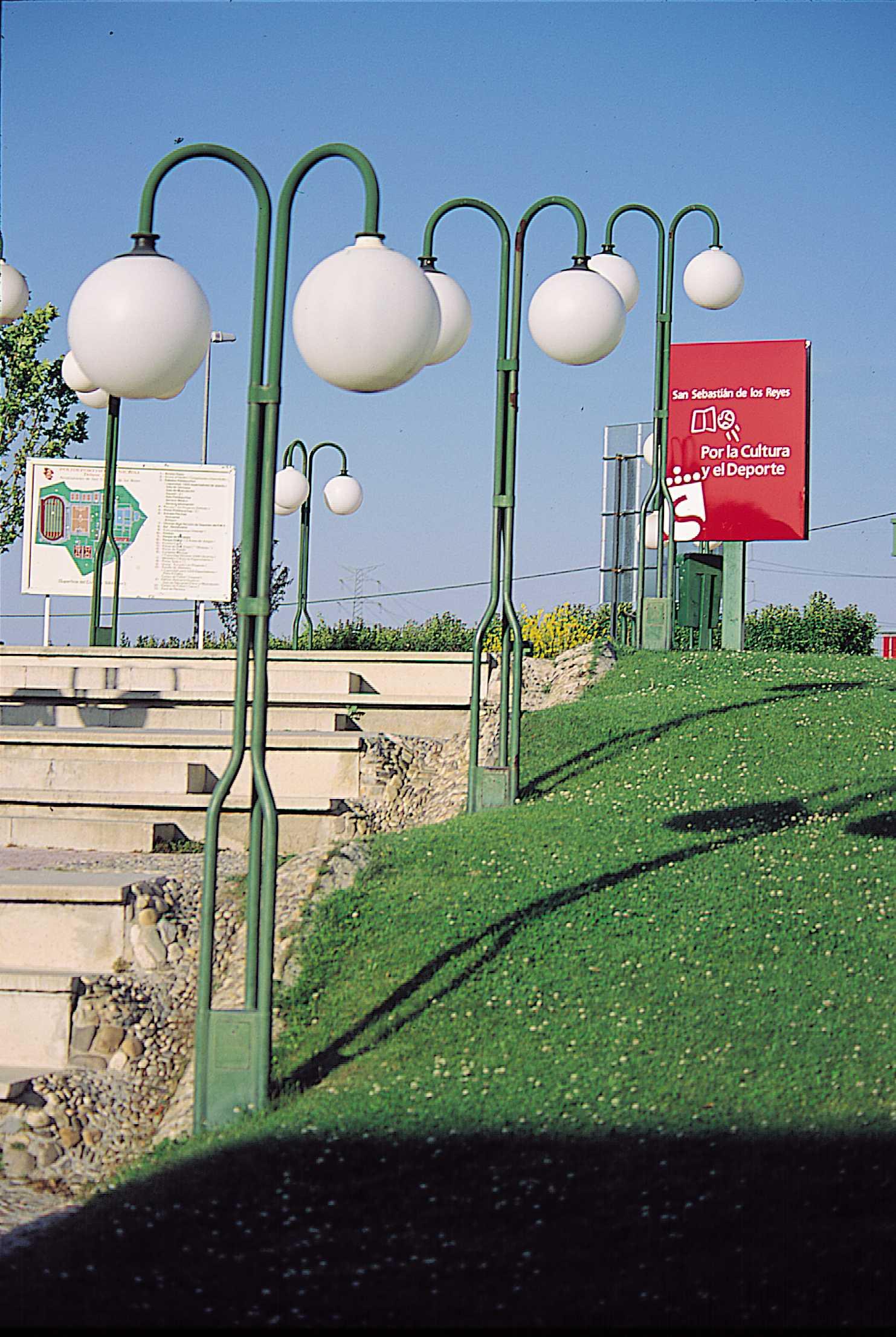 Parque con instalaciones deportivas en San Sebastián de los Reye