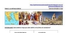 Antigua Grecia.Guía de estudio