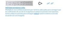 SECUNDARIA - 2º y 3º  ESO - SISTEMAS DE ECUACIONES REDUCCIÓN - MATEMÁTICAS - FORMACIÓN