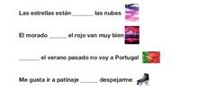 PRIMARIA 5º - LENGUA CASTELLANA Y LITERATURA - LAS PREPOSICIONES