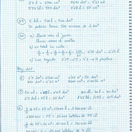 soluciones ejercicios de mates 6º 3
