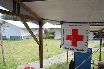 Tienda de Cruz Roja española, Melaboh, Sumatra, Indonesia