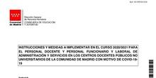 Instrucciones Medidas Curso 2020-21