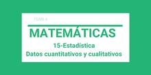 Estadística. Datos cuantitativos y cualitativos.