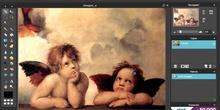 Redimensinando a los angelitos en Pixlr