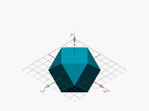 Poliedro limitado por cuadrados y triángulos