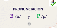 Pronunciación B y P
