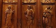 Detalle de la sillería del coro de la Catedral de Huesca